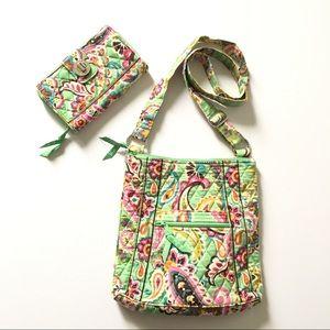 Vera Bradley crossbody bag matching wallet set